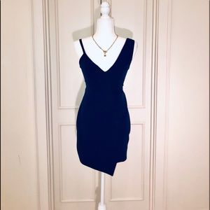 NBD Indigo Blue Mini homecoming dress